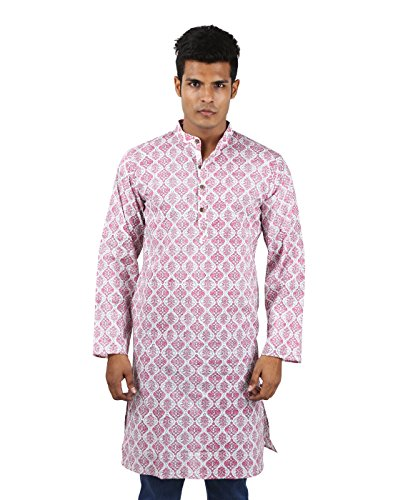 Indian Designer Handmade Cotton Short Mens Kurta Casual Punjabi Traditional Wear Clothing, ()