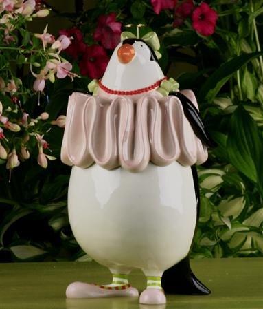 Krinkles Penguin Cookie Jar, 08-30320 by Patience Brewster Krinkles