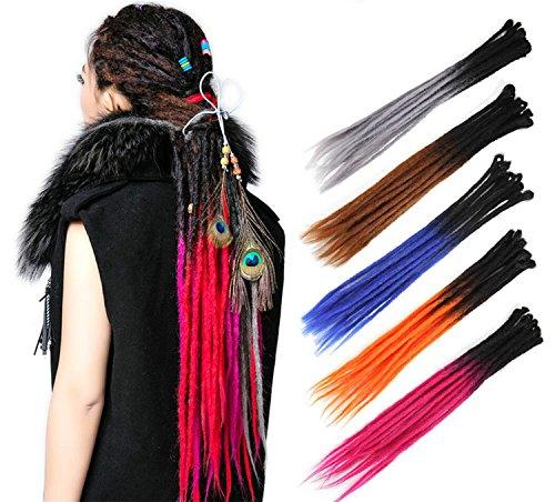 HAIQUAN Handmade Dreadlocks Extensions Reggae Hair 22 Soft Faux Locs Crochet Havana Mambo Twist Braiding Hair Ombre Color
