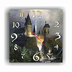 FBA Harry Potter - Hogwarts 11.8'' Handmade Wall Clock - Get Unique décor for Home or Office – Best Gift Ideas for Kids, Friends, Parents and Your Soul Mates