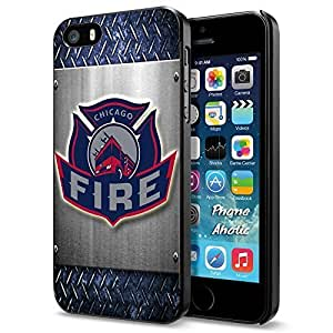 diy zhengSoccer MLS CHICAGO FIRE FC LOGO SOCCER FOOTBALL, Cool iPhone 6 Plus Case 5.5 Inch Smartphone Case Cover Collector iphone Black