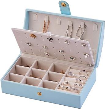 Vintage Fabric Jewelry /& Electronics Storage Roll--Blue