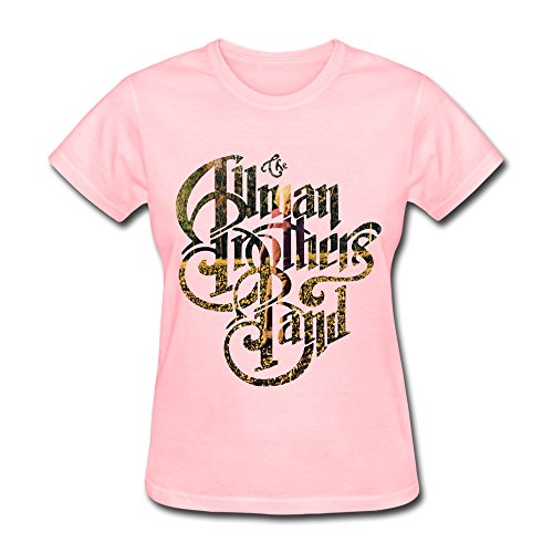 DONVAN Women's Allman Brothers Band Brothers And Sisters T-shirt M Pink