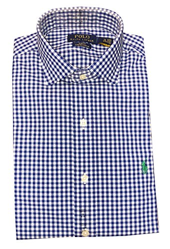 RALPH LAUREN Polo Mens Slim Fit Stretch Poplin Pony Logo Shirt (16.5 32/33, ()