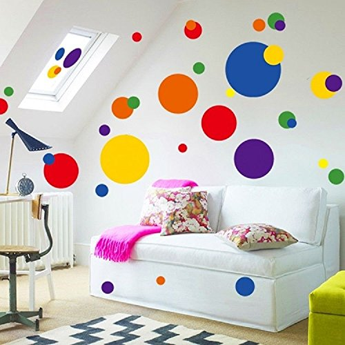 Funky room designs with polka dot wall decals funk this for Polka dot wall decals for kids rooms