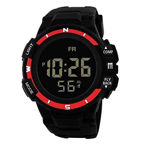 Amazon.com: XGUMAOI Men Analog Digital Watches Military Army Sport Wristwatch LED Waterproof Wrist Watch (Red): Jewelry