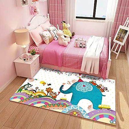 Alfombra de los niños Alfombra infantil linda de dibujos animados Princesa habitación infantil alfombra de jardín de infantes alfombra for gatear bebé sala de estar dormitorio mesilla de noche gruesa,: Amazon.es: Hogar