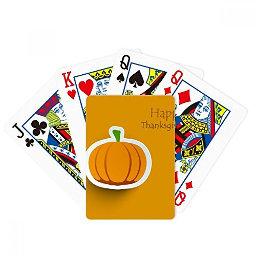DIYthinker Thanksgiving Day Pattern Cartoon Pumkin Poker Playing Cards Tabletop Game -