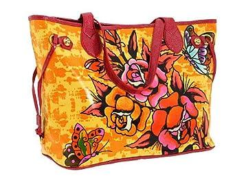 da34215cf3b2 Amazon.com   Ed Hardy Bag Baby Diaper Tote Bag Butterfly Rose Tattoo Design  w  Swarovski Crystal Bling   Baby