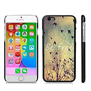 QJM Stylish Patterned Hard Plastic Snap On Case for iPhone 6 Plus