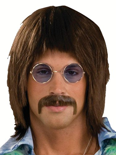 Forum Novelties Men's 1960's Costume Singer Wig, Brown, One Size -