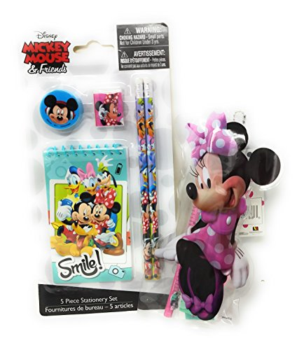 Back to School Toddler Pre-school Elementary School Supplies Pencil Pouch Ruler Eraser Bowtique Minnie Mouse (2 Piece