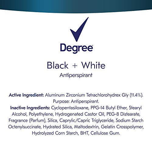 Degree Men UltraClear Antiperspirant Protects from Deodorant Stains Black + White Mens Deodorant 2.7 oz., 4 Count