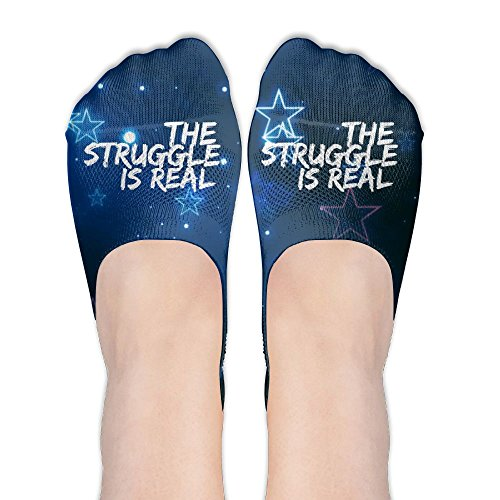 The Struggle Is Real Women's Thin Casual No Show Socks Non Slip Flat Boat Line by Wendengly