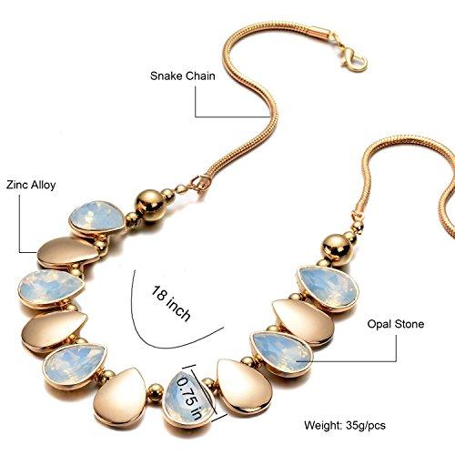 Oaonnea Women Gold Chains Choker Necklace Water Drop Pendant Statement Collar Necklaces (waterdrop necklace) by Oaonnea (Image #2)