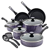 Paula Deen 12 Piece Riverbend Aluminum Nonstick Cookware Set, Lavender Speckle