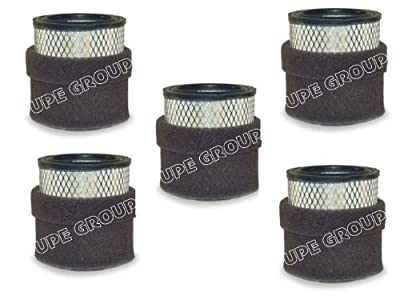 5 pack New Filter Replacement rewashable Polyester element for air compressor replaces Champion P5051A Ingersol Rand 32165466 32012957 Quincy 110377E100 Grainger 1R417