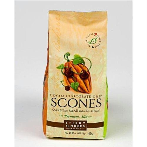 STICKY FINGERS MIX SCONE COCOA CHCCHP, 15 OZ (Chocolate Mix Scone)
