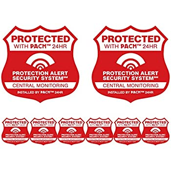 Amazon.com : 14 Home Security System Alarm Decals Stickers ...
