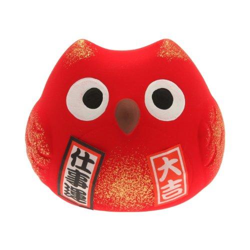 Kotobuki Fukuro Owl Charm Shigoto-un Collectible Figurine, Successful Career, - Owl Lucky