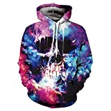 Hycsen 3D Hoodies Skull 3D Printed Sweatshirt Snow Skull Hoodies sweatshirt-DX014-XL