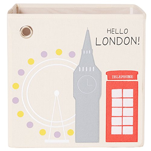 kaikai & ash Hello London! Canvas Storage Box and Organizer