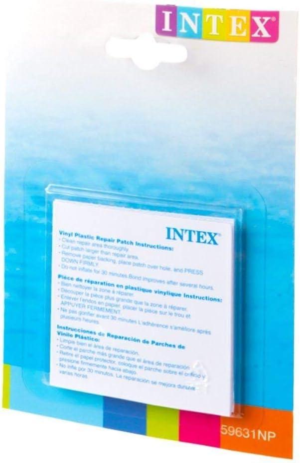 INTEX Adhesivo De Vinilo Plástico Hinchable Parche De Reparación - Pack de 6: Amazon.es: Jardín