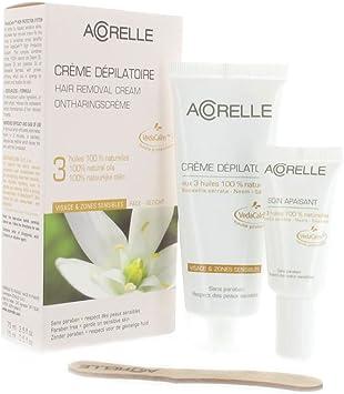 Acorelle, Crema depilatoria para rostro y zonas sensibles, de 75 ...