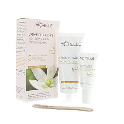 Acorelle, Crema depilatoria para rostro y zonas sensibles, de 75ml
