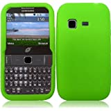 For Samsung S390G Silicone Jelly Skin Cover Case Neon Green Accessory