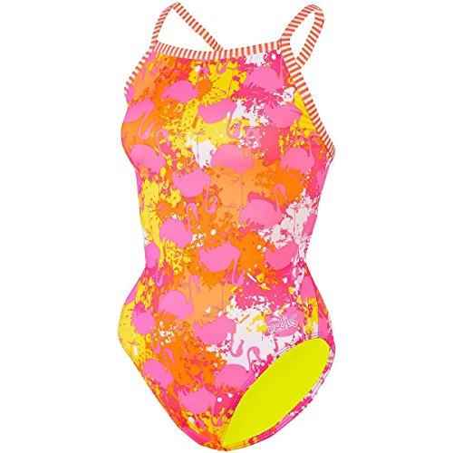 Dolfin Swimwear Women's Uglies V-2 Back One Piece Swimsuit (Miami, Size 34)
