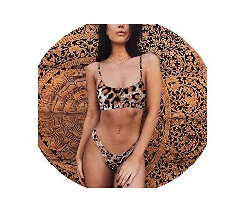 bin123 Sexy Leopard Bikinis Set Push Up Thong Biquini High Cut Swimwear Women Mini Swimsuit Bathing Suit,AF133803,M