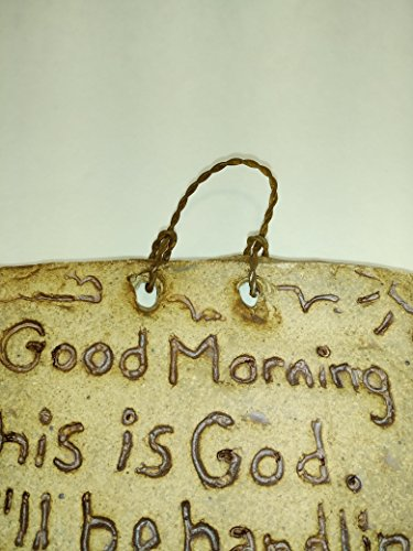 Aunt Chris Pottery Hand Made Plaque Rustic Bible Clay