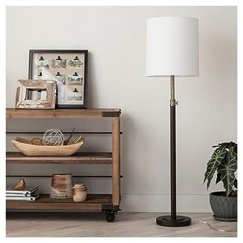 Amazon davis adjustable column floor lamp ebony 655 davis adjustable column floor lamp ebony 655quot threshold aloadofball Images