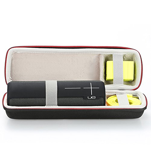 (EVA Hard Case Travel Carrying Storage Bag for Ultimate Ears UE BOOM 2 / UE BOOM 1 Wireless Bluetooth Portable Speaker. Fits USB Cable and Wall Charger-Black)