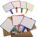 KleenSlate Deluxe Dry Erase Response Paddle Kit, Blank/Lined, Pack of 32