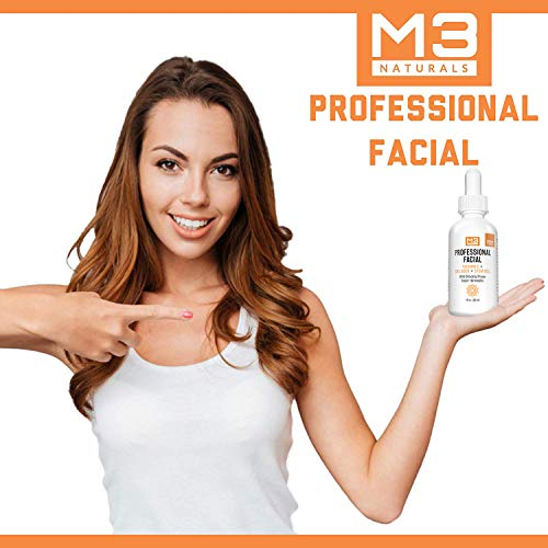 51%2BxTOW232L - M3 Naturals Professional Facial Vitamin C Infused with Collagen Stem Cell and Patented Fision Wrinkle Fix Face Eye Oil Topical Facial Serum Natural Skin Care Acne Anti Aging Dark Spot Remover Cream