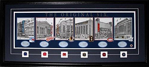 Original Six Arena's Lithograph Print NHL Hockey Memorabilia Collector Frame