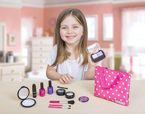 "Cutegirl Cosmetics Pretend Play Makeup Kit. Designer Girls ""Polka Dot"" Essential Bag Set"