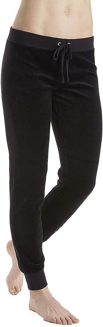 Amazon Com Juicy Couture Black Label Women S Velour Zuma Ii Track Pant Pitch Black L Clothing