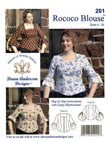 Patterns - Dawn Anderson Designs #201, Rococo Blouse