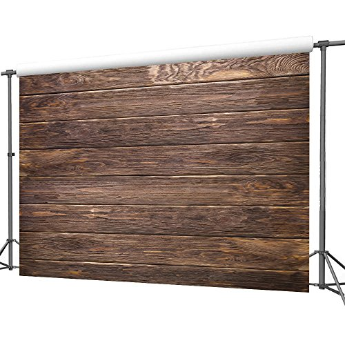 LYWYGG 7x5ft Thin Vinyl Brown Wood Backdrop Photographers Retro Wood Wall Background Cloth Seamless CP-19 by LYWYGG (Image #7)