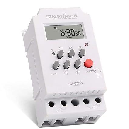 SINOTIMER 12V 30A Semanal 7 días Control programable del temporizador del relé del temporizador digital para
