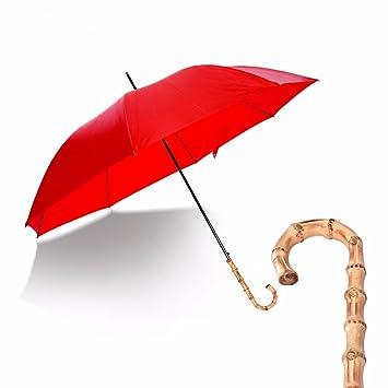 SSBY Paraguas de bambú largo mango mujer hombre paraguas creative gentleman inglés retro,negocios,