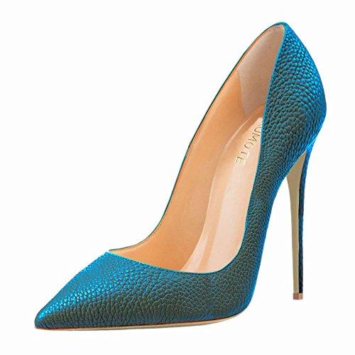 Pour Matériau Bleu Synthétique Habillées Merumote Chaussures En Femme aWXZZU