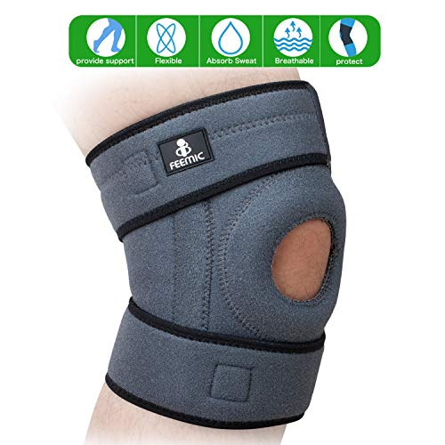 Knee Brace Support for Men & Women, Open Patella Stabilizer Knee Compression Support for Running...