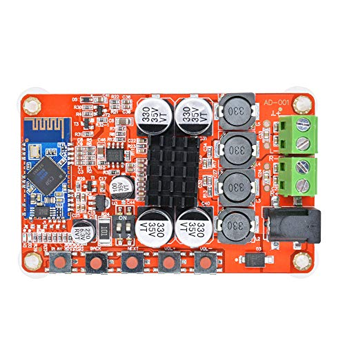 Aideepen 50W + 50W TDA7492P 2x50 Watt Dual Channel Amplifier Wireless Digital Bluetooth 4.0 Audio Receiver Amplifier Board (Red)