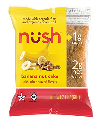 Low Carb Keto Snack Cakes - Banana Nut Paleo Friendly, Organic, Gluten Free, No Added Sugar (1 Pack (6 Cakes))