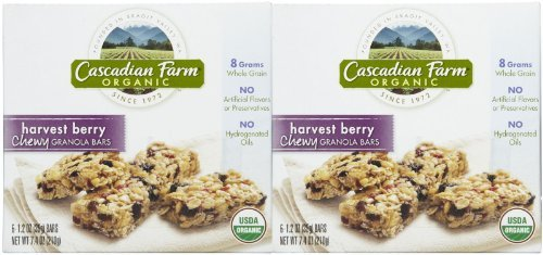 Cascadian Farm Organic Chewy Granola Bars - Harvest Berry - 7.4 oz - 6 ct - 2 pk