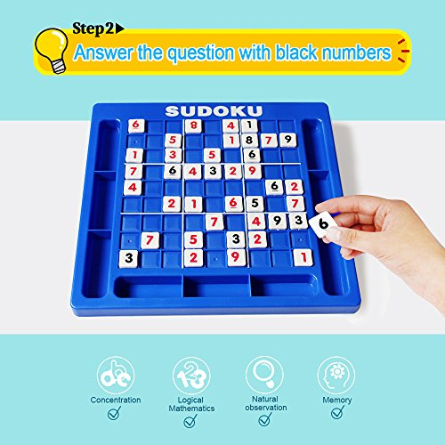 JUNSHEN Plastic Sudoku Puzzle Board Games Classical Puzzle Toys Brain Digital Puzzle Toys for Kids and Adults by JUNSHEN (Image #3)